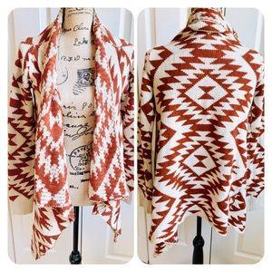 Boho knit warm sweater